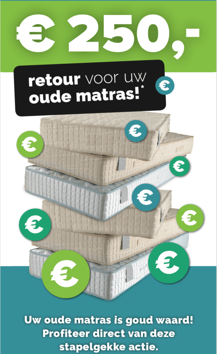 250 euro retour op oude matras
